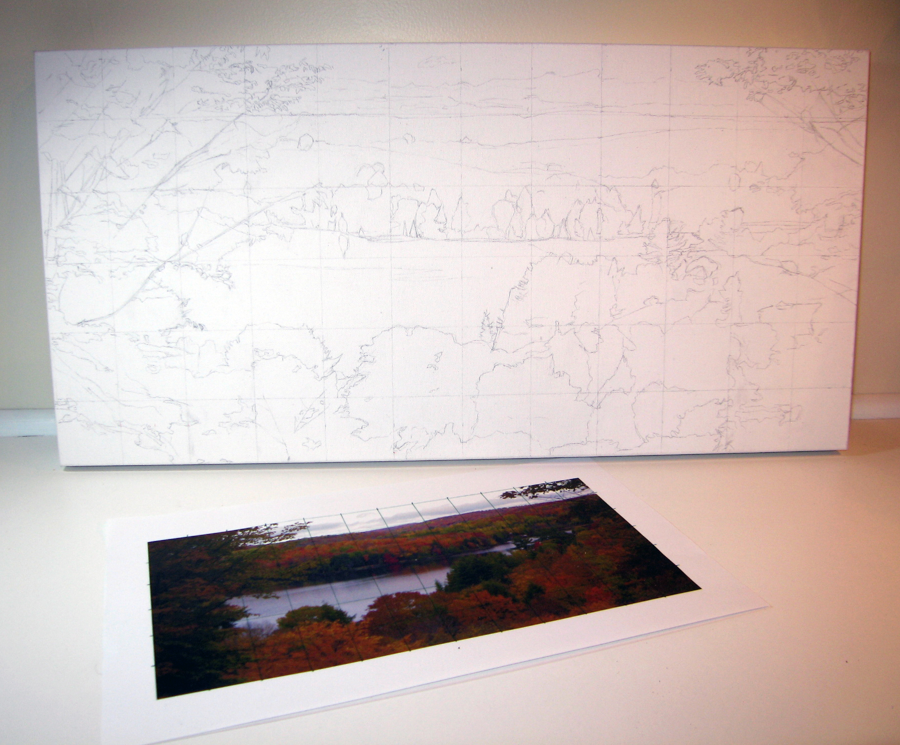 Drawing - commissioned landscape
